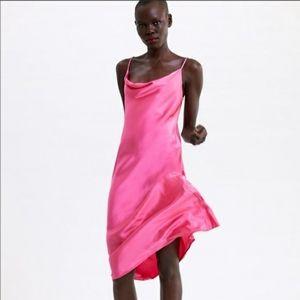 Zara Pink Slip Dress NWOT